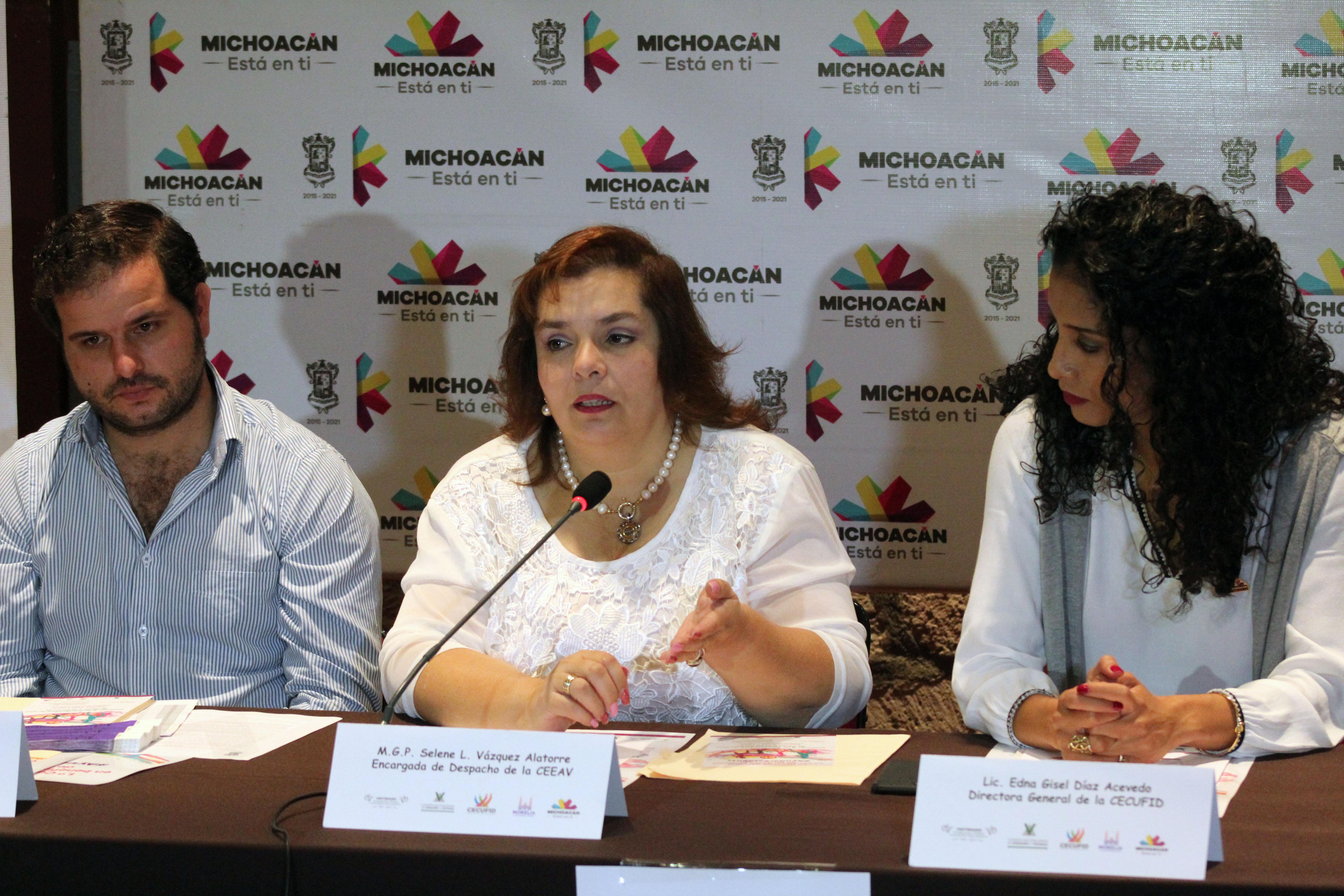 Selene Vázquez Alatorre, actual comisionada presidenta de la Comisión Ejecutiva Estatal de Atención a Víctimas de Michoacán